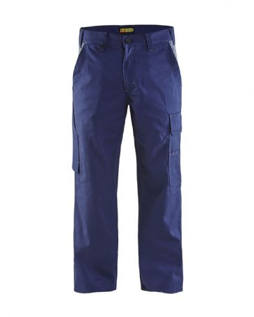 Blaklader 1404 Industry Trousers 65% Polyester, 35% Cotton Twill (Marine Blue/Grey)